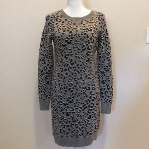 Loft Cheetah Print Sweater Dress. Size XS
